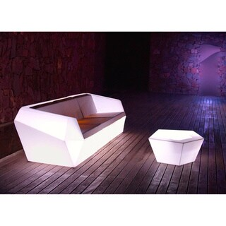 Chantel 2-Piece Color Changing LED Sofa and Table Set
