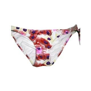 Women's One-side Peacock Nylon/Spandex Tie Bottom
