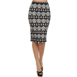 MOA Collection Women's Tribal-print Skirt