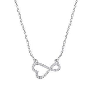 Sterling Silver 1/10ct TDW Diamond Sideways Infinity Pendant (I-J, I1-I2)