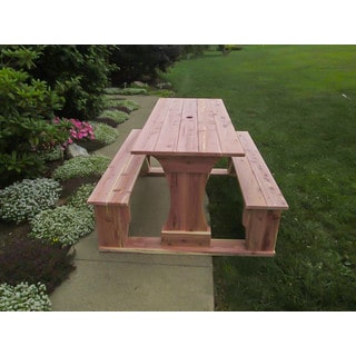 Commercial Grade Indoor-Outdoor Red Cedar Pub Trestle Table