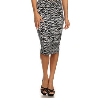 MOA Collection Women's Polyester/Spandex Leopard Print Skirt