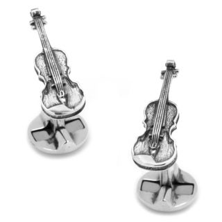 Cufflinks Inc Sterling Silver Violin Cufflinks