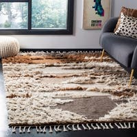 Safavieh Kenya Contemporary Hand-Knotted Grey/ Brown Wool Rug - 8' x 10'