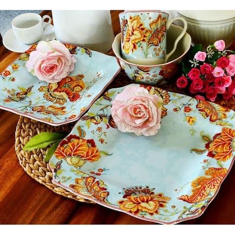 222 Fifth Gabrielle Blue 16-piece Dinnerware Set