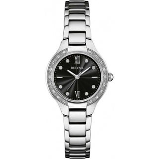Bulova Women's 96W207 Silver Tone Stainless Steel and Diamond Watch with a Sapphire Crystal