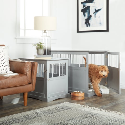 FurHaven Dog Crate Furniture End Table