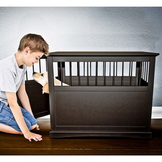 FurHaven Dog Crate Furniture End Table - Espresso