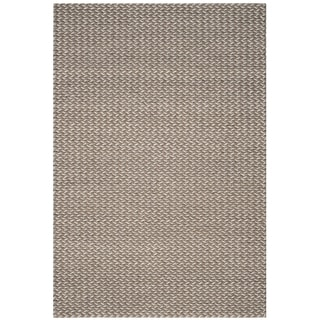 Safavieh Manhattan Contemporary Handmade Camel/ Grey Wool Rug (8' x 10')