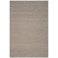 Safavieh Manhattan Contemporary Handmade Camel/ Grey Wool Rug (8' x 10') - 8' x 10'