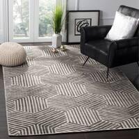 Safavieh Handmade Mirage Mid-Century Light Grey/ Charcoal Wool/ Viscose Rug - 8' x 10'