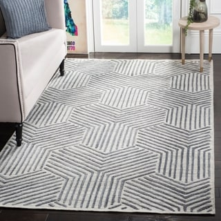 Safavieh Mirage Contemporary Handmade Light Grey/ Charcoal Wool Rug (9' x 12')