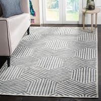 Safavieh Handmade Mirage Mid-Century Light Grey/ Charcoal Wool/ Viscose Rug - 9' x 12'