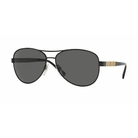 Burberry Women BE3080 100187 Black Cateye Sunglasses