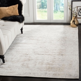 Safavieh Mirage Contemporary Handmade Ivory/ Silver Wool Rug (8' x 10')
