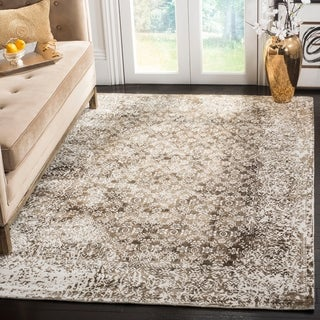 Safavieh Mirage Contemporary Handmade Ivory/ Light Brown Wool Rug (9' x 12')