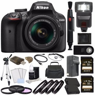 Nikon D3400 DSLR Camera with 18-55mm AF-P DX NIKKOR Lens