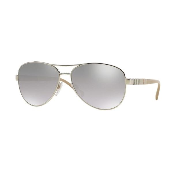 Burberry Women BE3080 10056V Silver Cateye Sunglasses