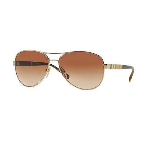 Burberry Women BE3080 114513 Gold Cateye Sunglasses