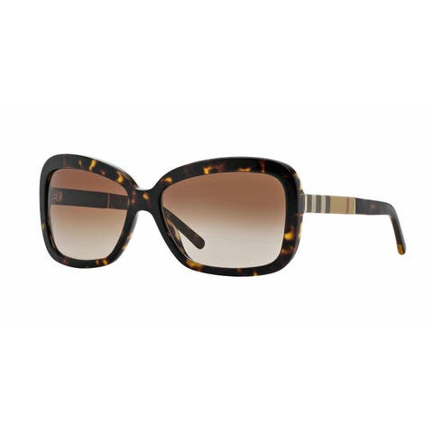 Burberry Women BE4173 300213 Havana Rectangle Sunglasses