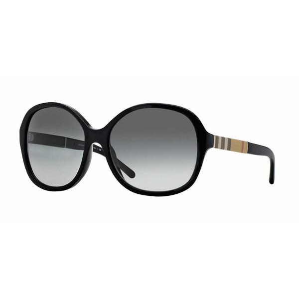 8720472e398 Shop Burberry Women BE4178 300111 Black Round Sunglasses - Free Shipping  Today - Overstock.com - 13298351