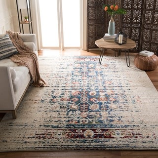 Safavieh Monaco Vintage Distressed Ivory / Blue Distressed Rug (9' x 12')