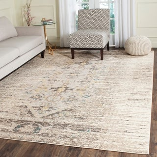 Safavieh Monaco Vintage Distressed Grey / Multi Distressed Rug (8' x 10')