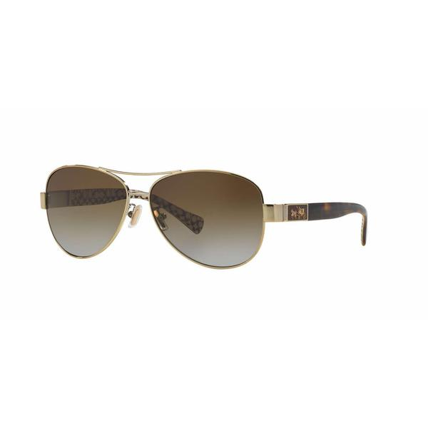 390a8afd1d5e Shop Coach Women HC7047 L103 CHRISTINA 9202T5 Gold Plastic Cateye Sunglasses  - Free Shipping Today - Overstock - 13298405