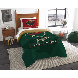 The Northwest Company NHL Wild Draft Green Twin 2-piece Comforter Set