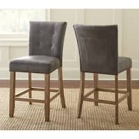 The Gray Barn Brush Creek Upholstered Counter Height Dining Chair (Set of 2)