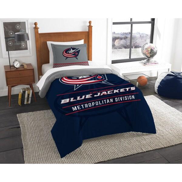The Northwest Co NHL 86201 Blue Jackets Draft Twin 2-piece Comforter Set