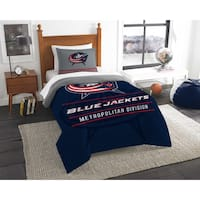 The Northwest Co NHL 86201 Blue Jackets Draft Twin 2-piece Comforter Set