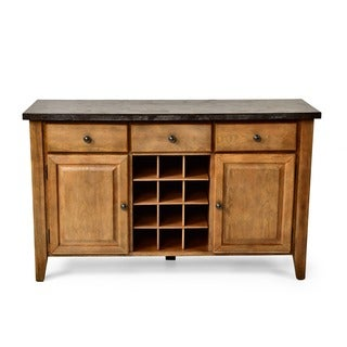 Danni Server with Stone Top and Wine Storage by Greyson Living
