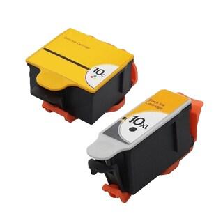 2PK Compatible Kodak 10 ( 1935766 ) + Kodak 10 ( 8891467 )Inkjet Cartridge For Kodak EasyShare 5100 5300 5500 ( Pack of 2 )