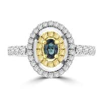 18k Two-tone Gold Brazilian Alexandrite and 5/8ct TDW Diamond Ring