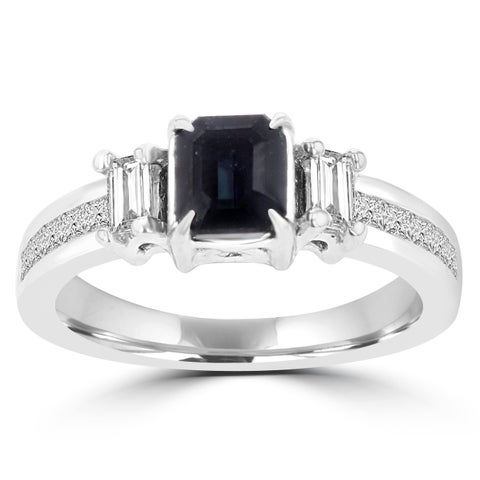 18k White Gold Brazilian Alexandrite and 5/8ct TDW Diamond Ring
