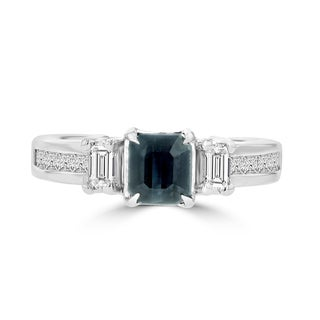 18k White Gold Brazilian Alexandrite and 5/8ct TDW Diamond Ring
