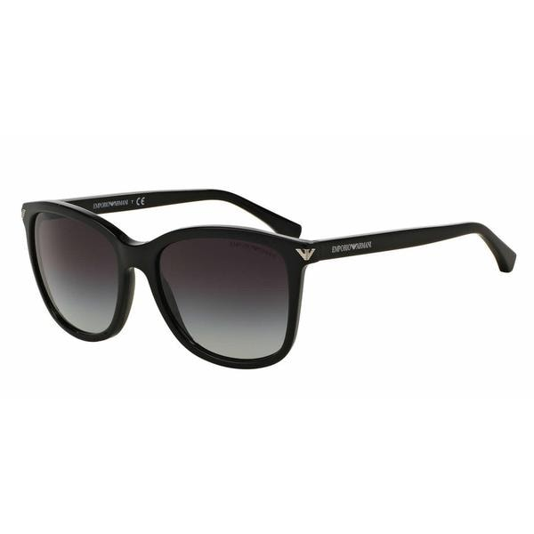 6a7b18dde4ee Shop Emporio Armani Women EA4060F 50178G Black Plastic Square Sunglasses -  Free Shipping Today - Overstock - 13298536