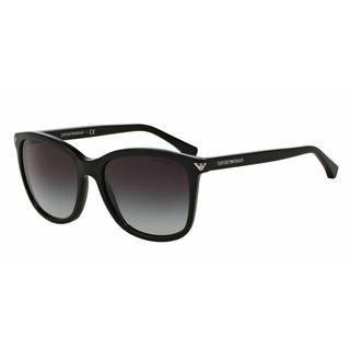 Emporio Armani Women EA4060F 50178G Black Plastic Square Sunglasses
