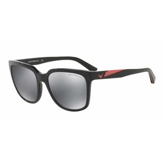 Emporio Armani Women EA4070 50176G Black Plastic Square Sunglasses