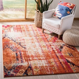 Safavieh Monaco Vintage Bohemian Orange/ Multi Distressed Rug (8' x 11')