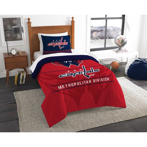The Northwest Company NHL Washington Capitals Draft Twin 2-piece Comforter Set