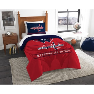 NHL 86201 Capitals Draft Twin 2-piece Comforter Set