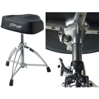 Stagg DT-220RM Professional Double-braced Drum Throne with Saddle