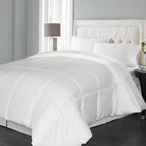 Hotel Grand 1000 Thread Count Damask Stripe Down Alternative Comforter