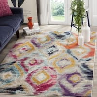 Safavieh Monaco Bohemian Vibrant Watercolor Rainbow Distressed Rug (10' x 14')