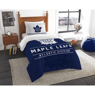 NHL 86201 Maple Leafs Draft Twin 2-piece Comforter Set