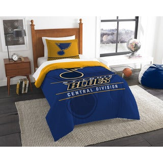 The Northwest Company NHL Blues Draft Blue and Yellow Polyester Twin 2-piece Comforter Set