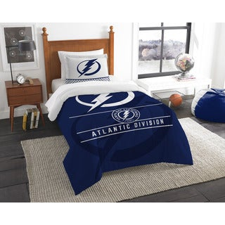 The Northwest Company NHL Tampa Bay Lightning Draft Blue Twin 2-piece Comforter Set