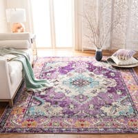 Safavieh Monaco Bohemian Medallion Violet/ Light Blue Distressed Rug (8' x 10')